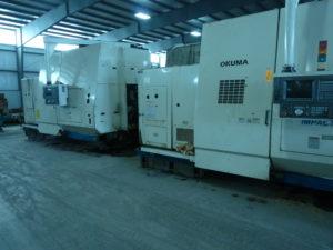 Two (2) Okuma Horizontal LU45 CNC Machines w/ Okuma OSP 7000L Controller