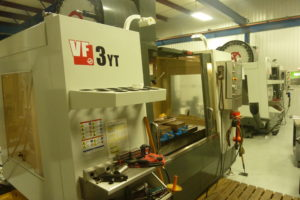 2015 Haas VF3YT/50 Vertical CNC Machining Center w/ 31 Unit Tool Changer plus Spindle w/ Haas Controller